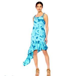 NEW Green Dragon Midi Dress with Assymetrical …